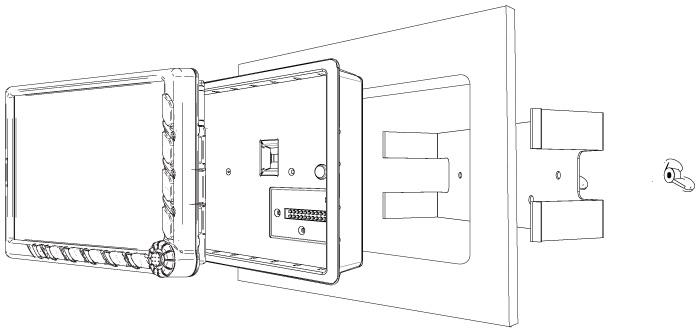 AvMap Cockpit Docking Station Panel Installation